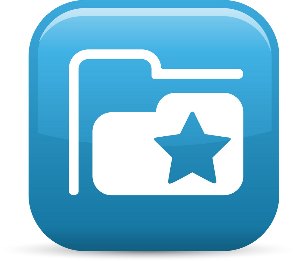 Favorite Folder Elements Glossy Icon