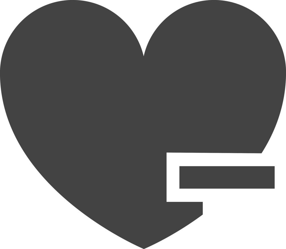 Favorite Remove Glyph Icon