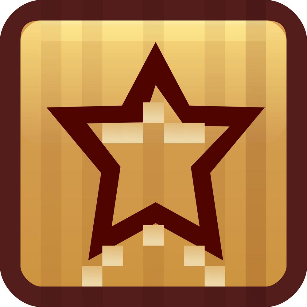 Favorite Star Brown Tiny App Icon