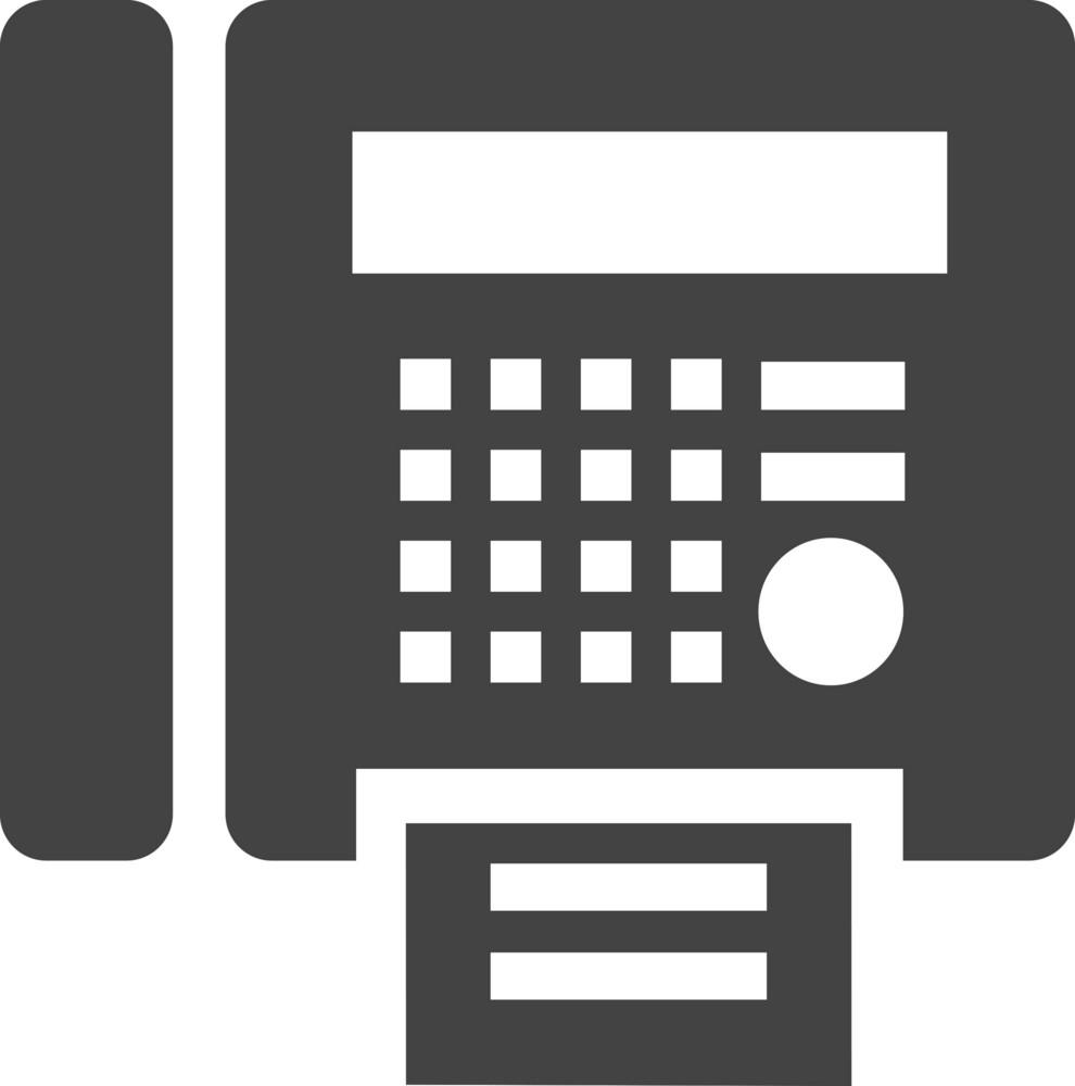 Fax Glyph Icon