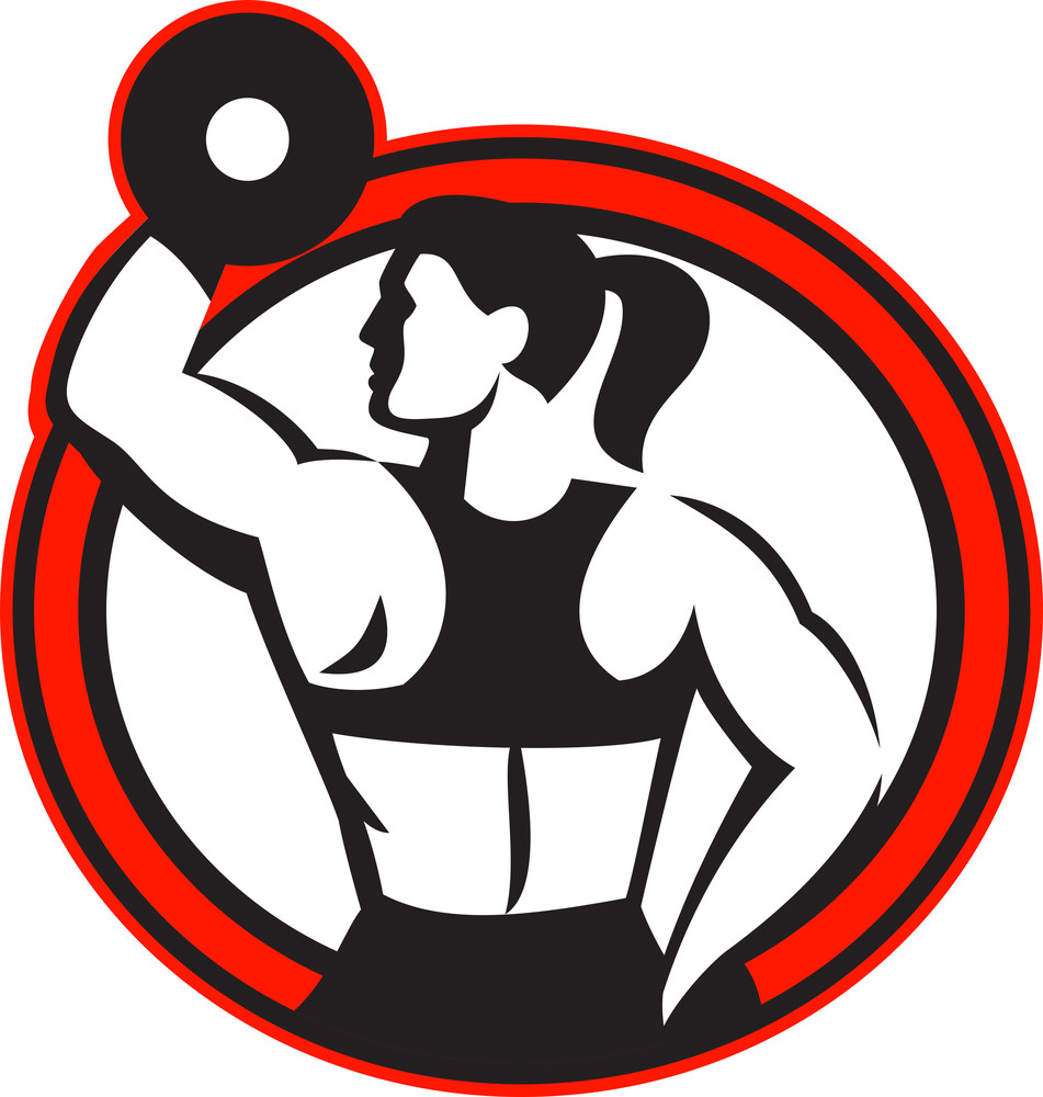 Female Lifting Dumbbell Fitness Side Circle