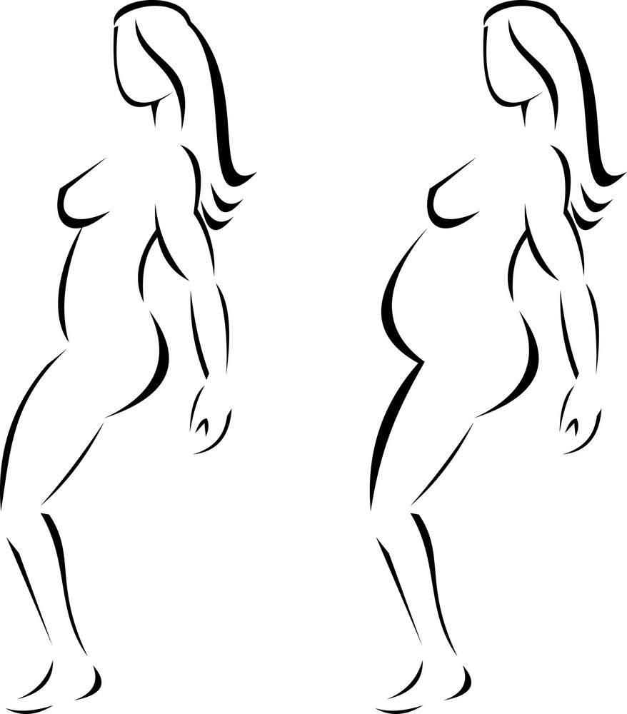 Female Line Drawing