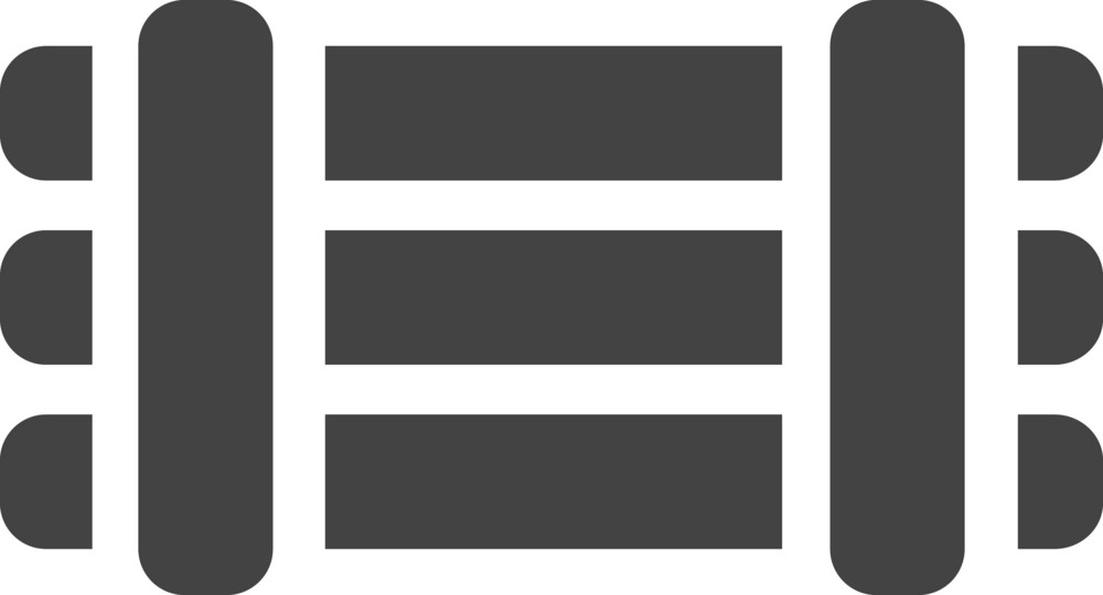 Fence 1 Glyph Icon