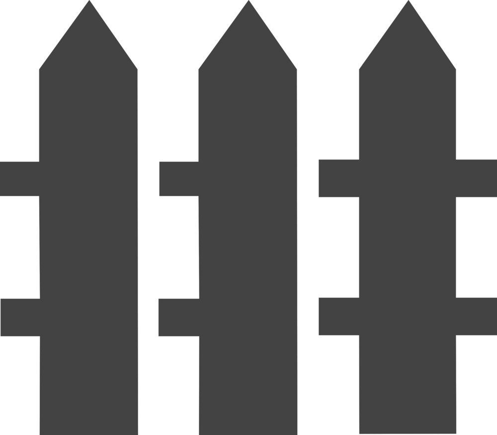 Fence Glyph Icon