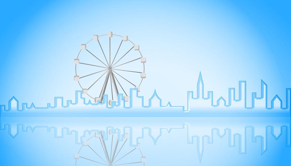 Ferris Wheel At City
