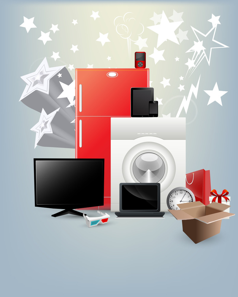 Festival Offer Home Appliances Vectors