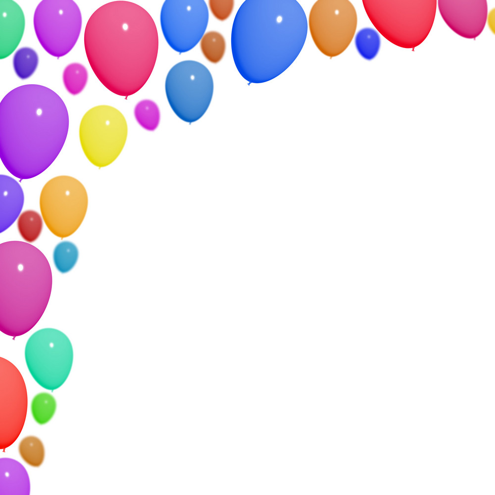 Festive Colorfull Balloons For Birthday Celebrations With Blank Copyspace