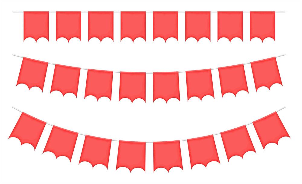 Festive Flags Vector