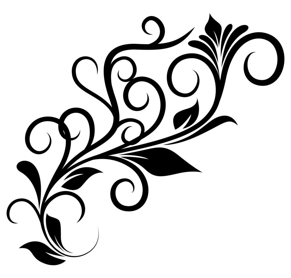 Festive Floral Design Element