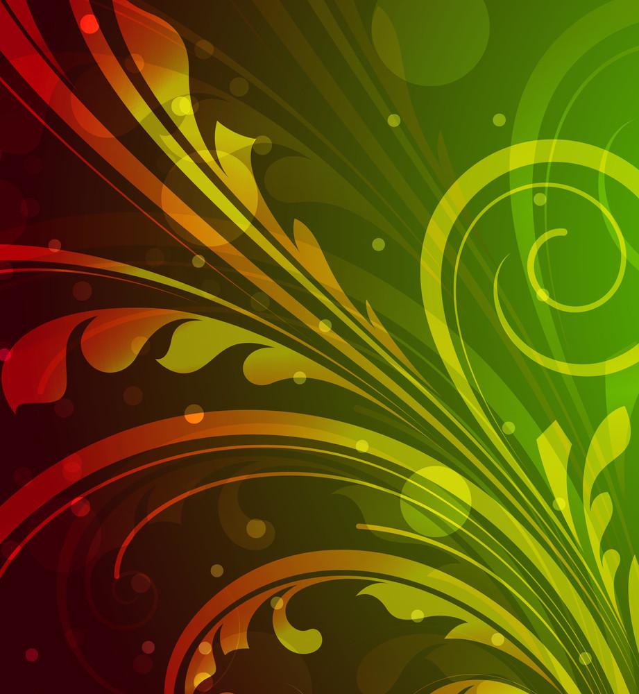 Festive Floral Vector Background