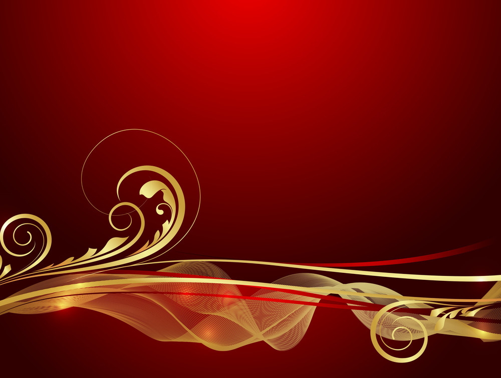 Festive Golden Floral Design