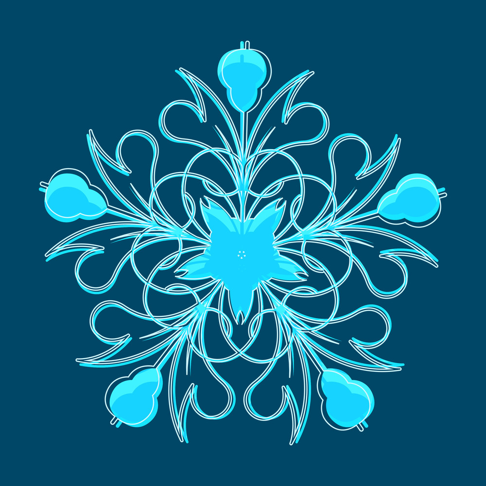 Festive Snowflake Element