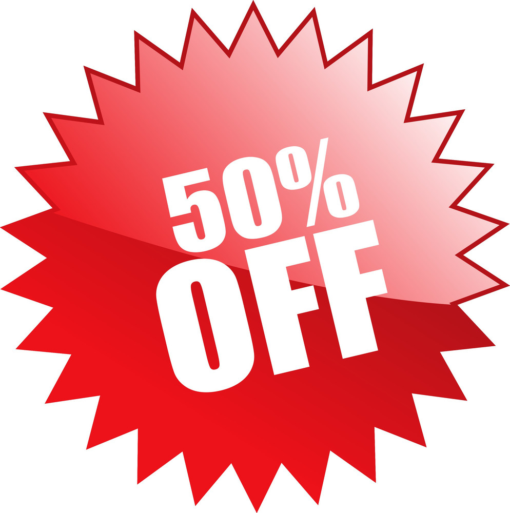 Fifty Percent Discount Coupon