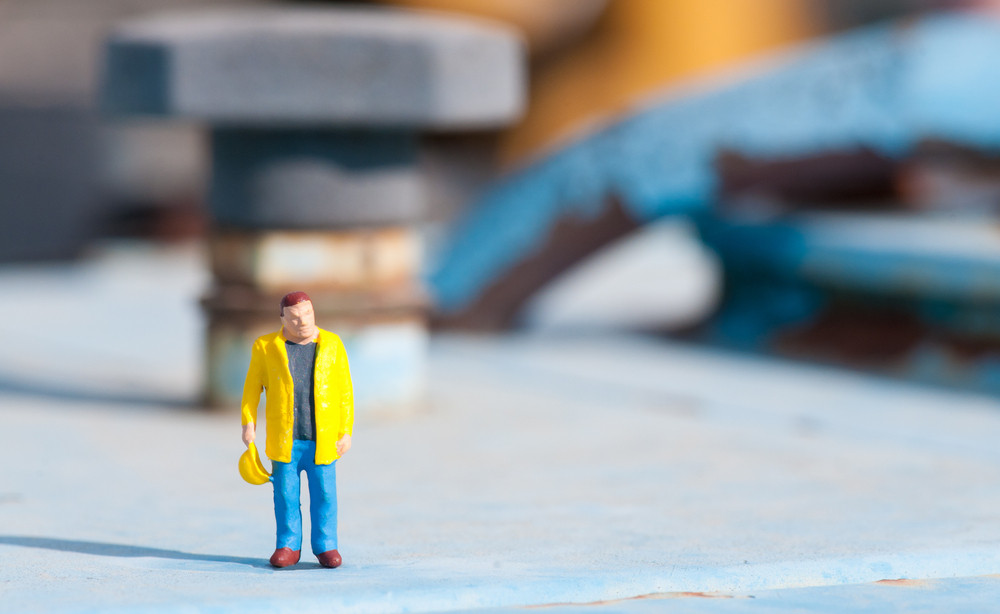 Figurine Of Construction Worker