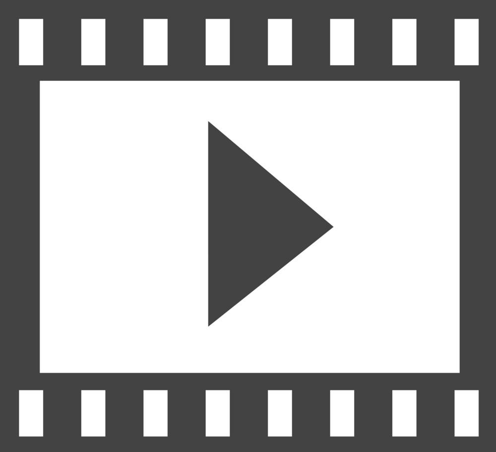 Film Play Glyph Icon