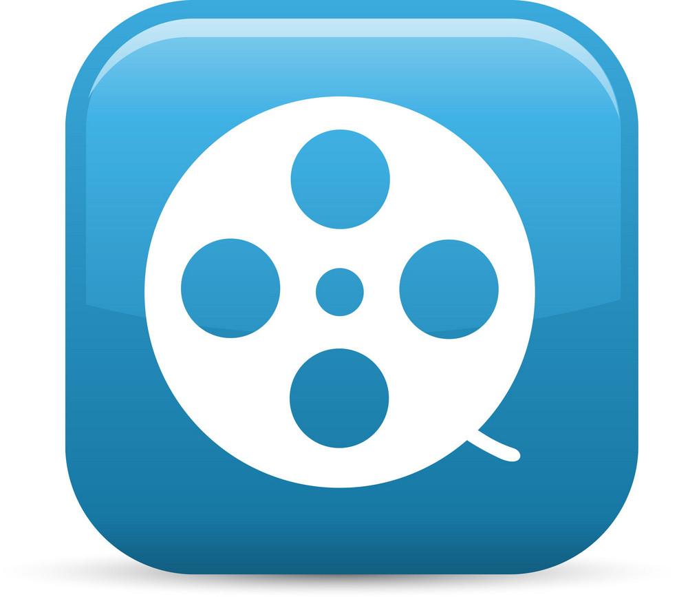 Film Reel Elements Glossy Icon