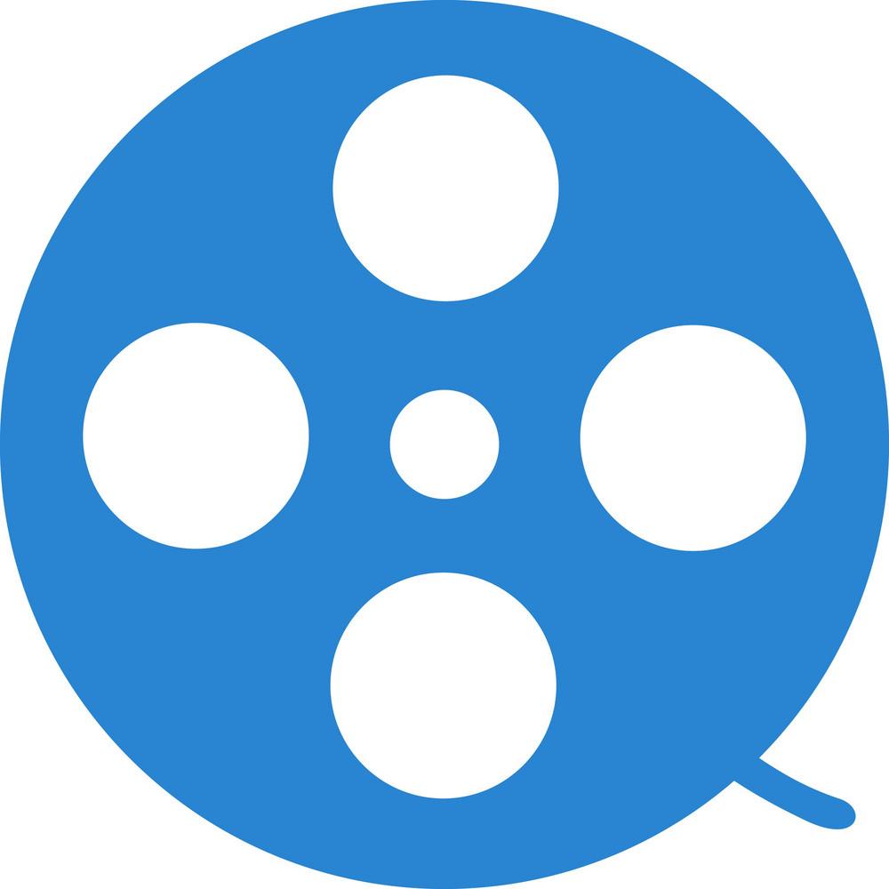 Film Reel Simplicity Icon
