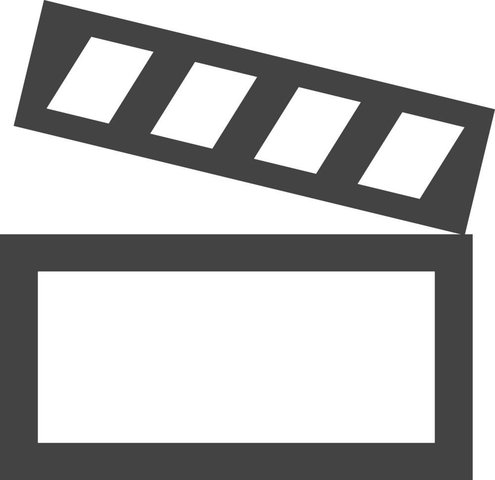 Film Slate Glyph Icon