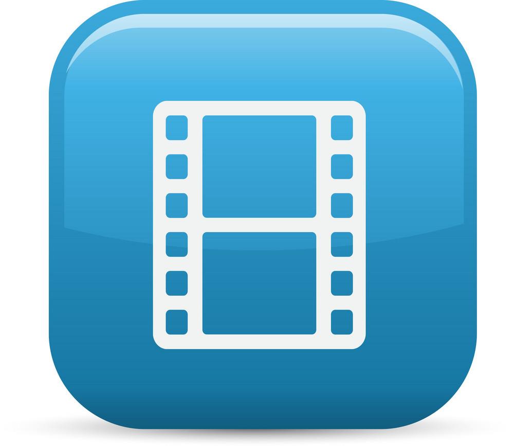 Film Strip Elements Glossy Icon