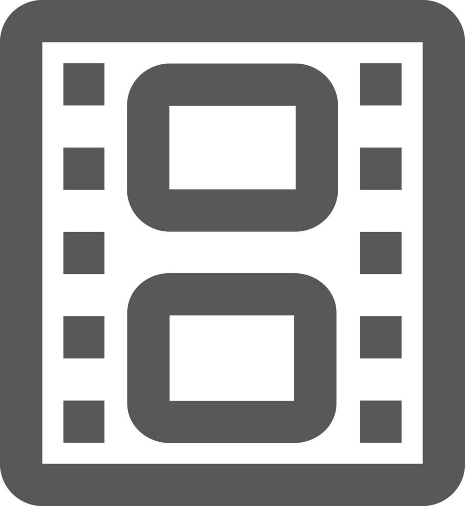 Film Strip Stroke Icon
