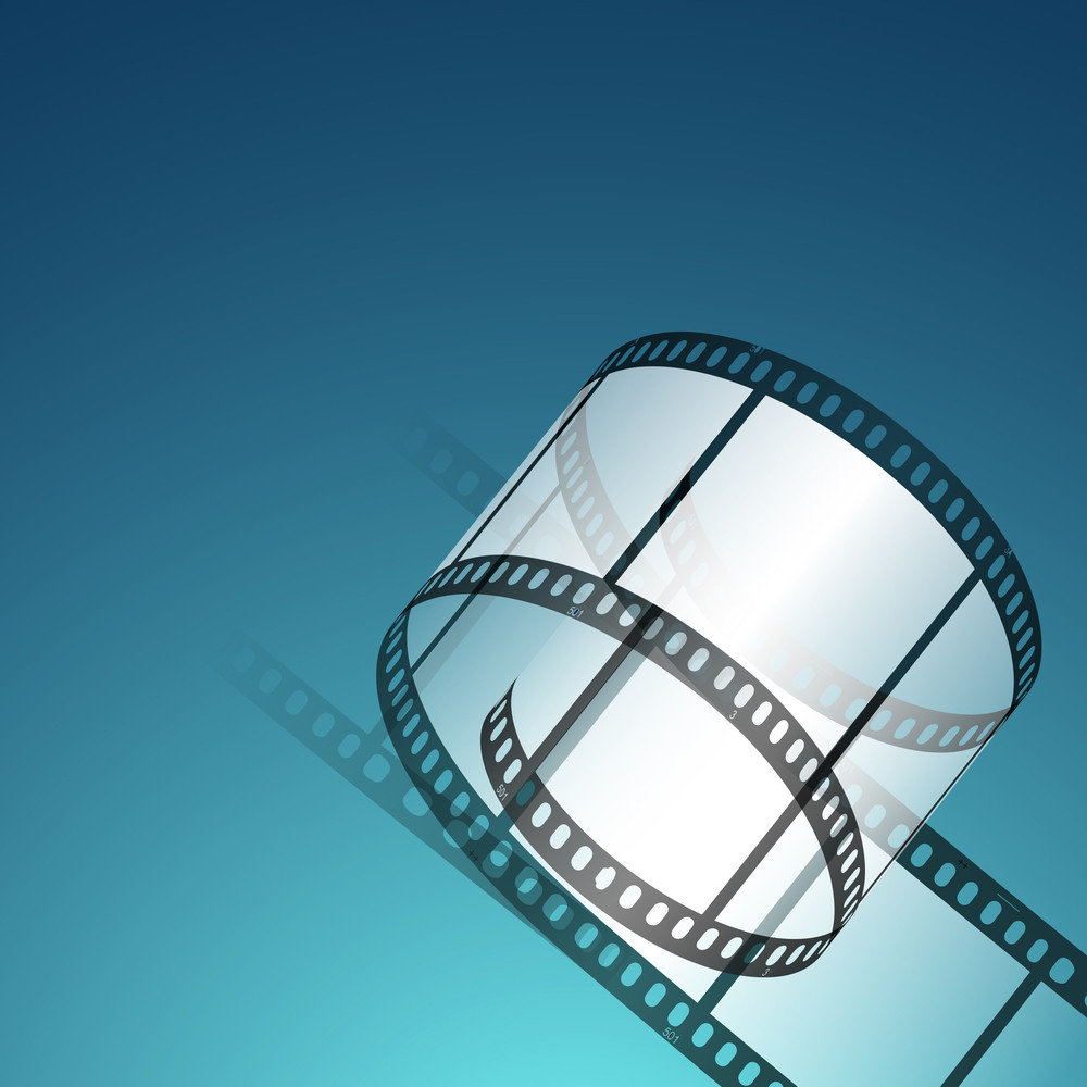 Film Stripe Or Film Reel On Shiny Colorful Movie Background 10