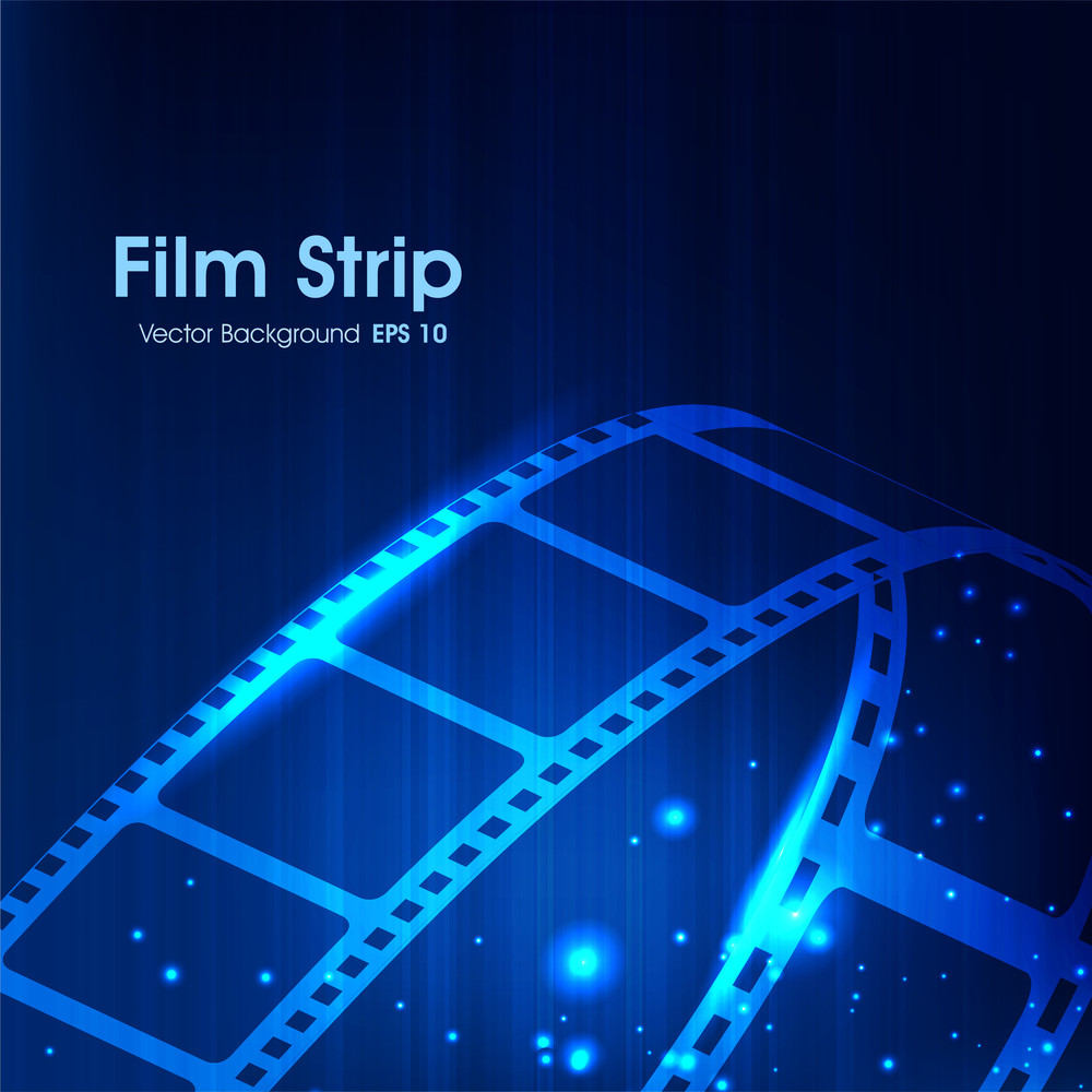 Film Stripe Or Film Reel.