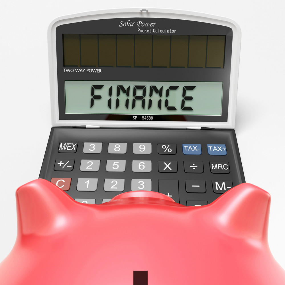 Finance Calculator Shows Money, Commerce And Accounting
