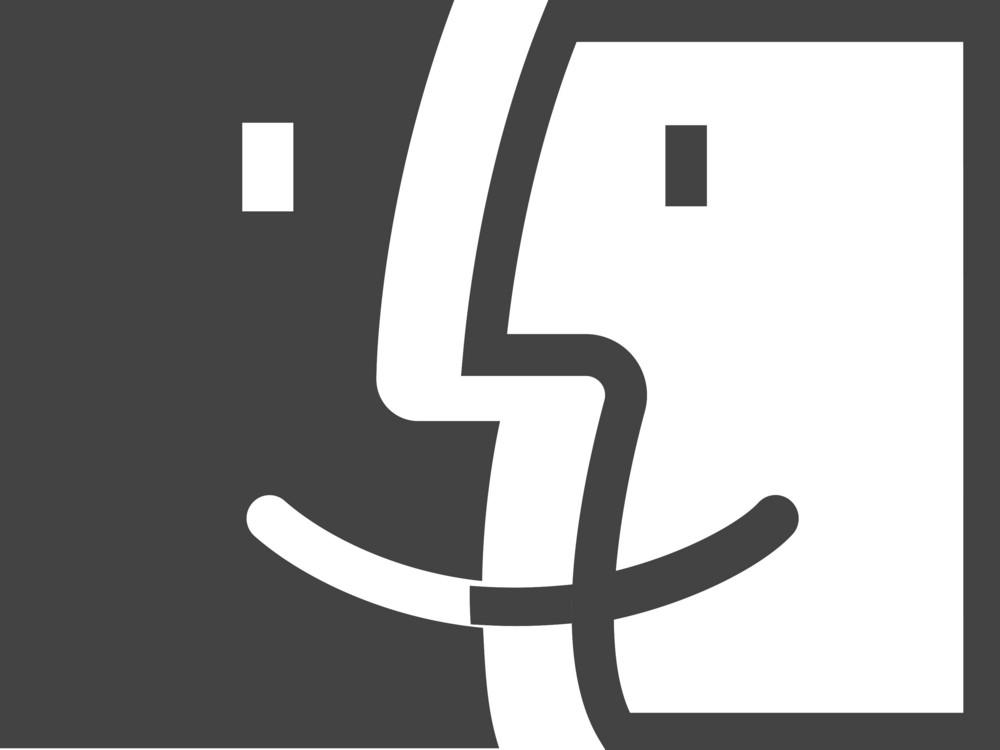Finder Glyph Icon