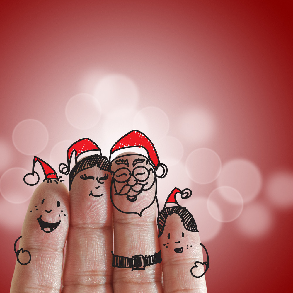 Fingers Family And Christmas Royalty-Free Stock Image - Storyblocks