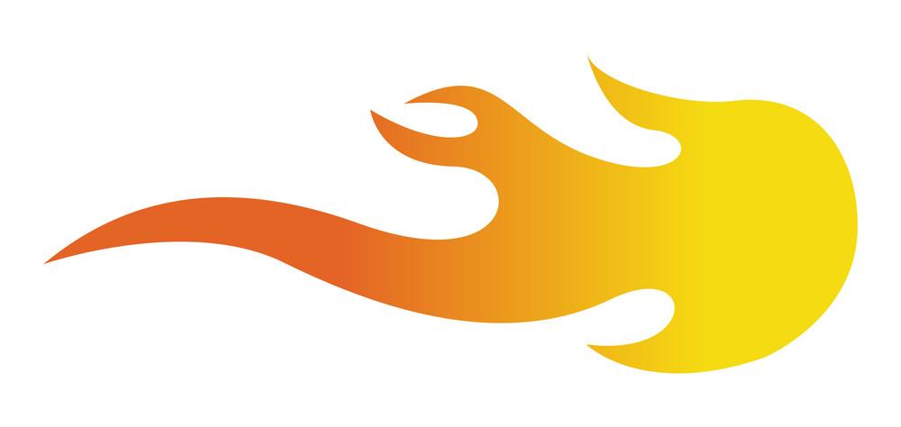 Fire Flame Design Element Shape