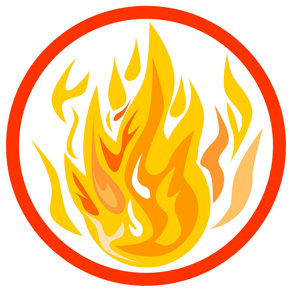 Fire Inside Circle