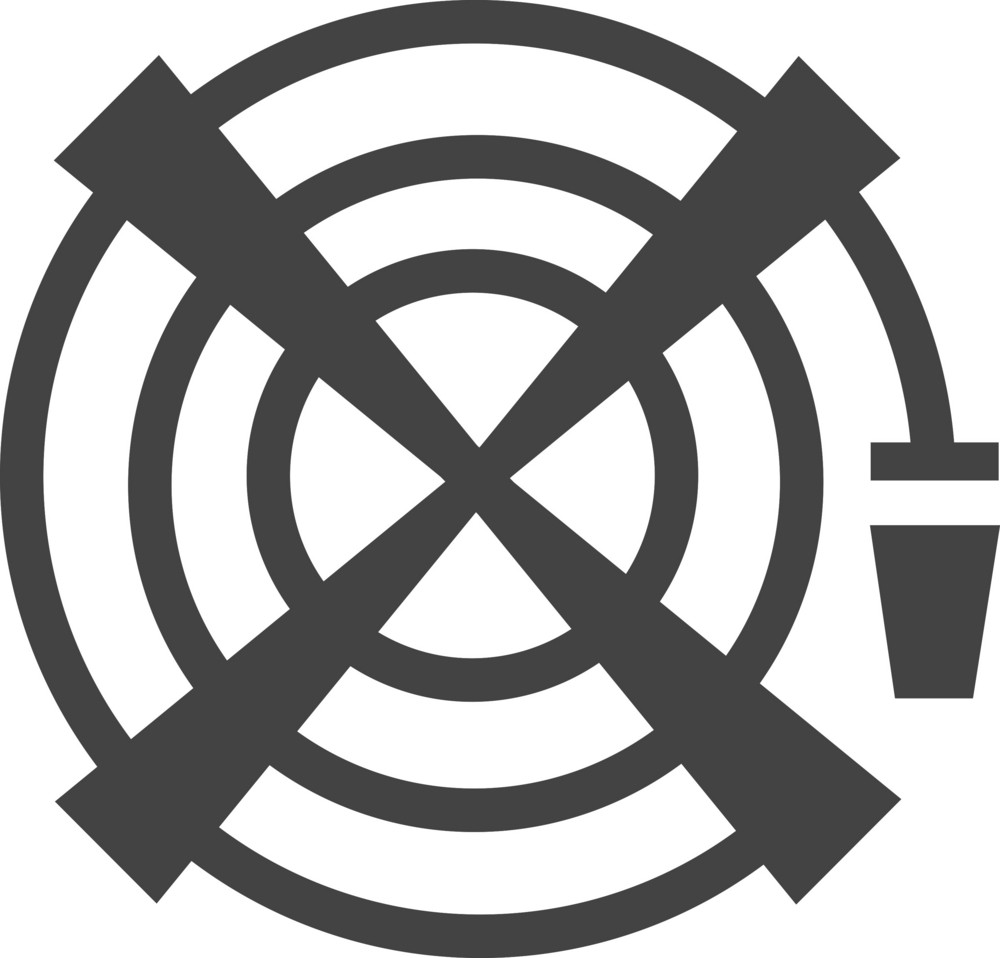 Fire Water Glyph Icon