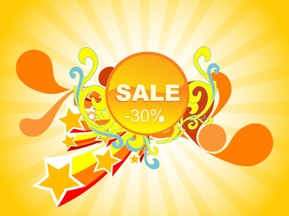 Fireworks Background Of 30% Discount