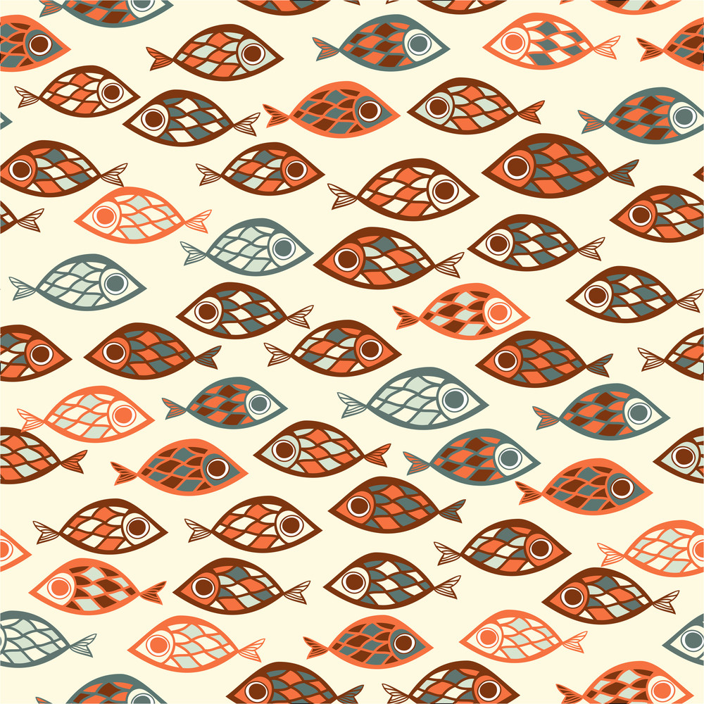 fish pattern in abstract style royalty free stock image