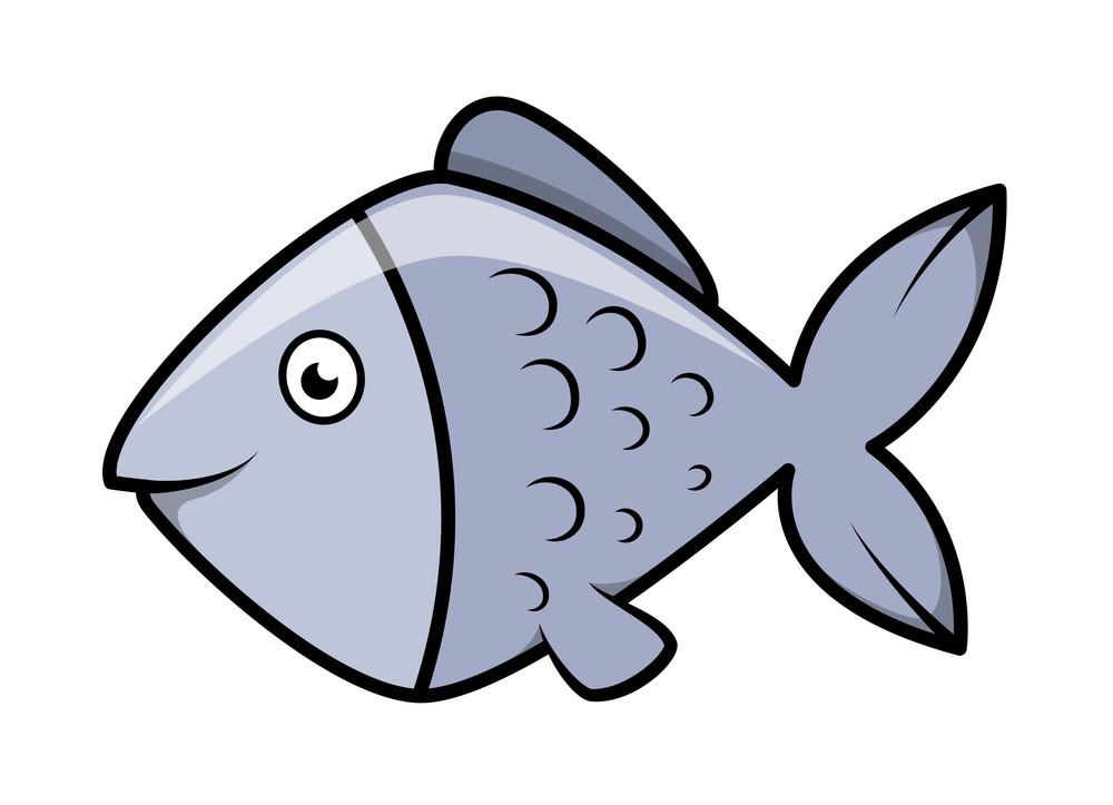 Fish - Vector Cartoon Illustration