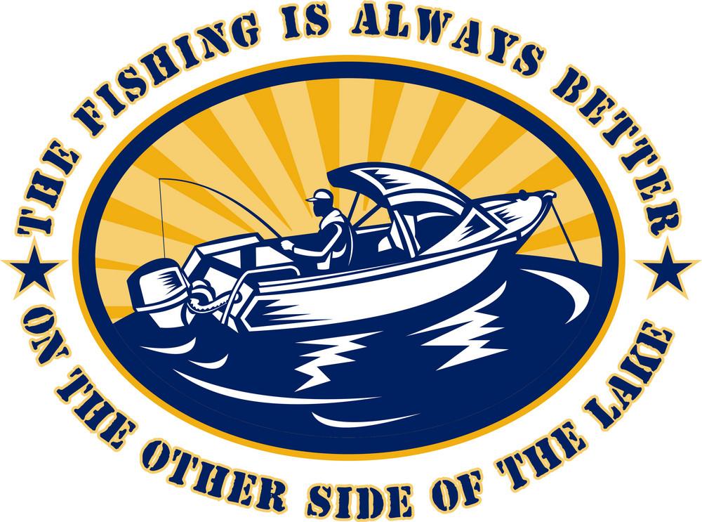 Fisherman Fishing Boat Rod Reel