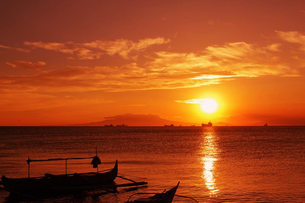 Fishingboat And Sunset