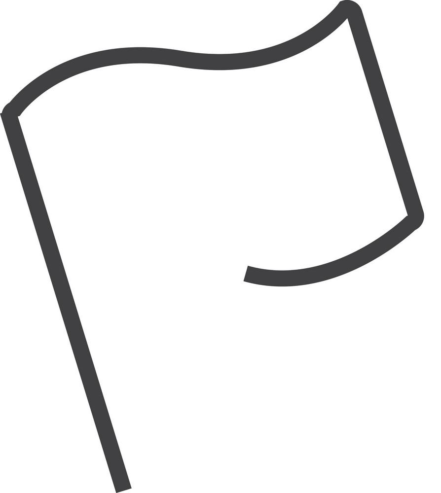 Flag 1 Minimal Icon