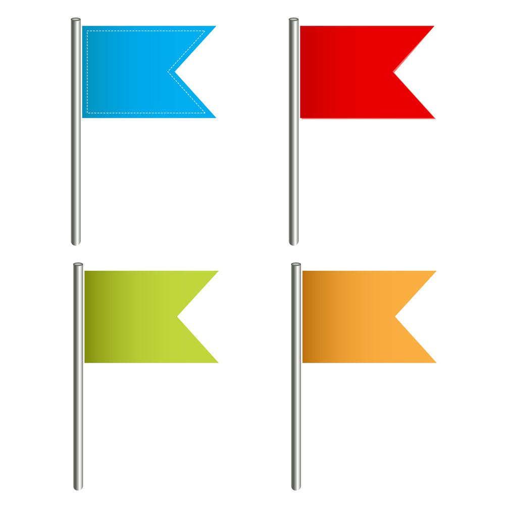 Flag Push Pins Vectors