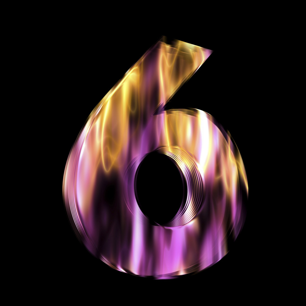 Flaming 3d Number