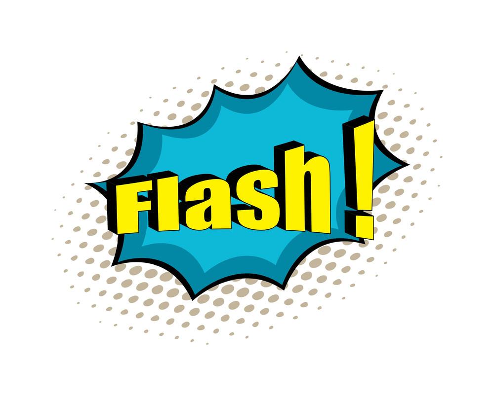 Flash Retro Text Banner Graphic
