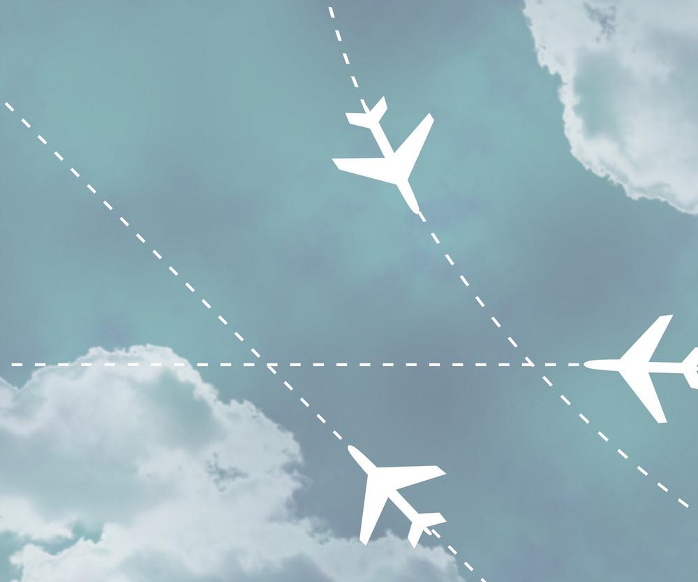 Flight Paths Fog Sky Background