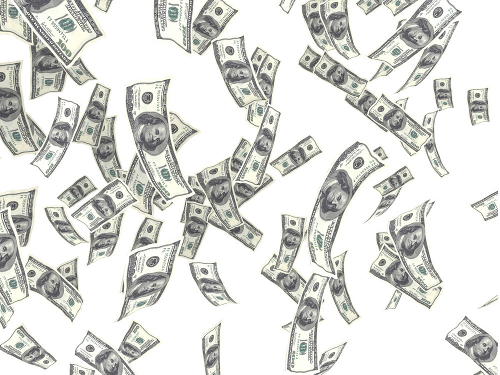 Floating Money Background