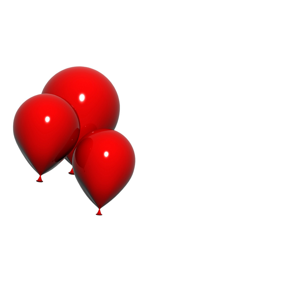 Floating Red Balloons