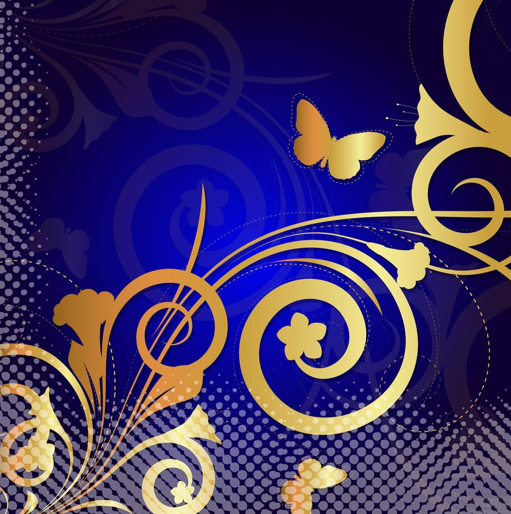 Flora Design Halftone Background