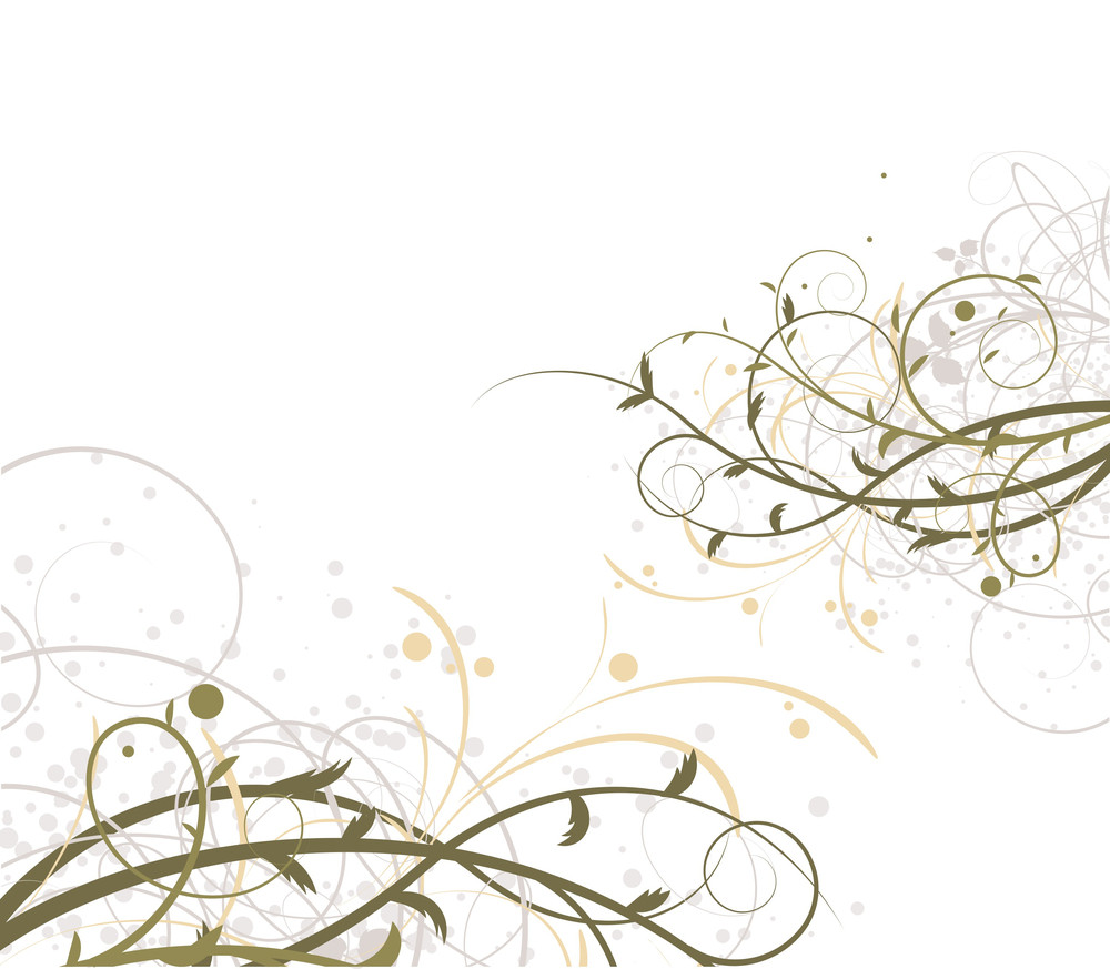 Floral Abstract. Vector.