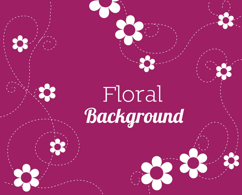 Floral Background Illustration With Doodle Flower,texture