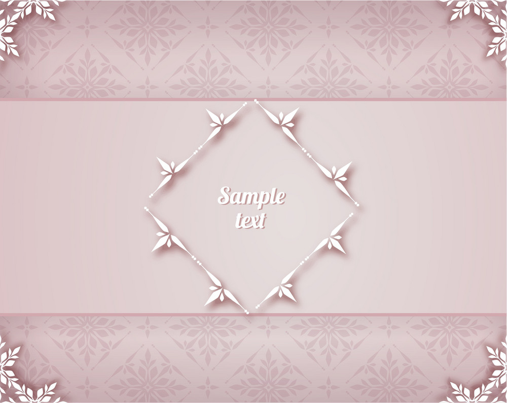Floral Background Vector Illustration With Floral Frame