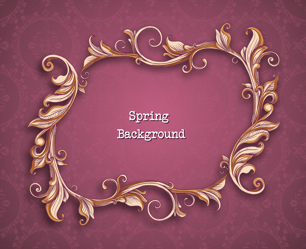 Floral Background Vector Illustration With Frame