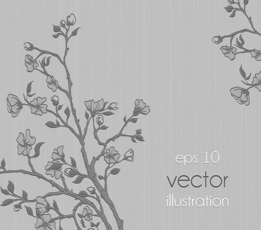 Floral Background Vector Ilustration